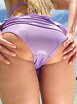 Micro Bikini, Wet Pussy Closeup of Viktoria Diamond