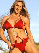 Micro Bikini, Cynthia Daniels Red Suit and Chains
