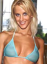 Micro Bikini, Cynthia 01 blonde bottle fucking bikini water clitoris