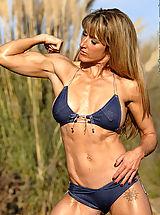 Micro Bikini, Deborah Denio Blue Jean Peep