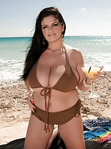 Micro Bikini, Enormous Tits Woman Intercourse On The Beach