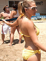 Micro Bikini, Roxanne Hall has hot sweaty sex with a big fuckstick