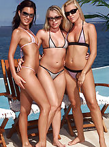 Bikini, Nella, Sophie Moone, Trisha Uptown in Nella, Sophie, Trish by All Shaved Ladies