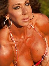 Bikini, Lynnie Brooks, Tanned and Fit