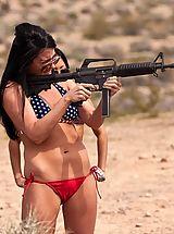 Micro Bikini, Playboys Badass! Naked Girls Shooting Guns!