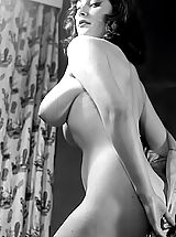 Vintage And Retro, Mrs. Big Bust 1960 Photos Of Fully Naked Babe Showing Her Gigantic Vintage Breasts