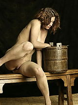 Vintage And Retro, WoW nude keemly medieval body washing