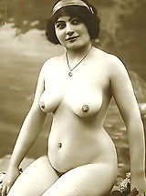 Vintage And Retro, Forgotten European Nude Photography from 1850 to 1920 Featuring Lewd Naked Girls Posing On VintageCuties.com