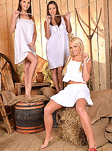 Vintage And Retro, Three Peasant Girls Suck One Enormous Prick