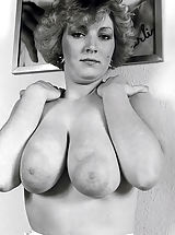 Vintage And Retro, Historic Shoot-out - Huge Knockers with Big Nipples against Small Breasts in 50 s Pornography of the Seventies and Sixties