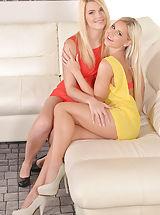 High Heels, Lesbian Lickathon - Hot Blonde's Messy, Sexy, Shenanigans