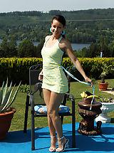 High Heels, Beautiful Melissa Rams a Bananna Deep Inside her Pussy
