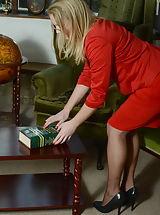High Heels, Miss Toyne Naughty Students in Garter Belt Stockings plus High Heels