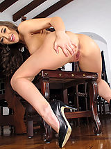 High Heels, Wet Pussy Closeup of Dani Daniels